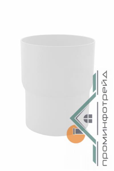 Фото Водосточные системы PROFiL – пластиковые водосточные системы - Соеденитель трубы 130 белый
