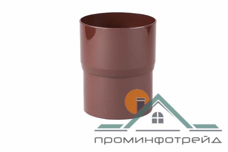 Фото Водосточные системы PROFiL – пластиковые водосточные системы - Соеденитель трубы 130 коричневый
