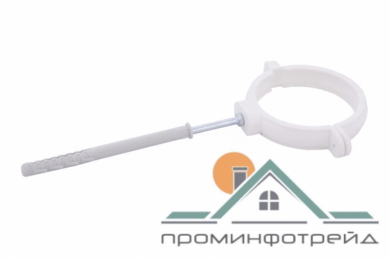 Фото Водосточные системы PROFiL – пластиковые водосточные системы - Держатель трубы пласт. L160 130 белый