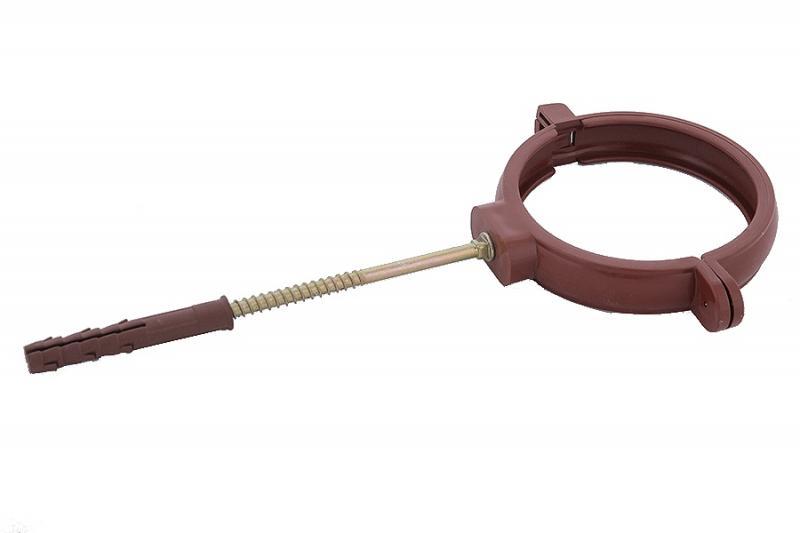 PROFiL – пластиковые водосточные системы - Держатель трубы пласт. L220 130 коричневый