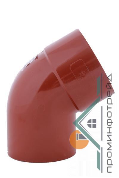 Фото Водосточные системы PROFiL – пластиковые водосточные системы - Колено 75 кирпичное