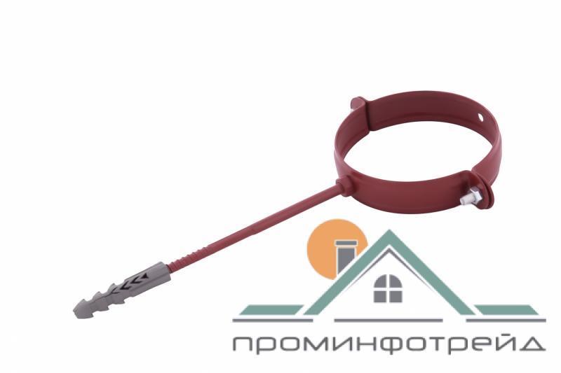 Фото Водосточные системы PROFiL – пластиковые водосточные системы - Держатель трубы металл. L100 90 красный