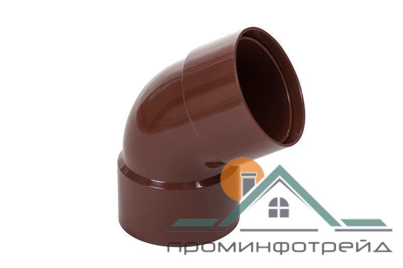 Фото Водосточные системы PROFiL – пластиковые водосточные системы - Колено двухраструбное 100 коричневое