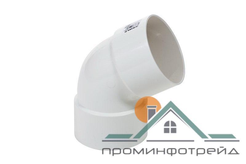 Фото Водосточные системы PROFiL – пластиковые водосточные системы - Колено двухраструбное 100 белое