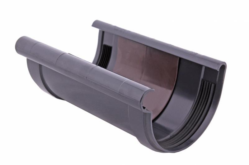 PROFiL – пластиковые водосточные системы - Соединитель желоба 130 графитовый