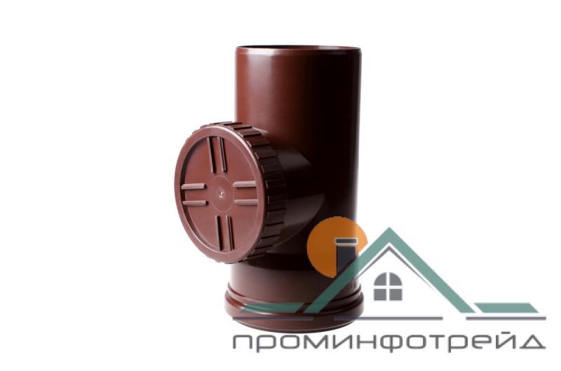 Фото Водосточные системы PROFiL – пластиковые водосточные системы - Ревизия 90 коричневая
