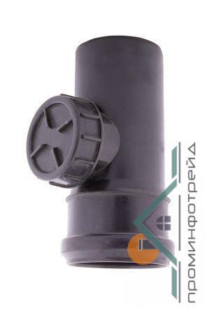 Фото Водосточные системы PROFiL – пластиковые водосточные системы - Ревизия 90 графит