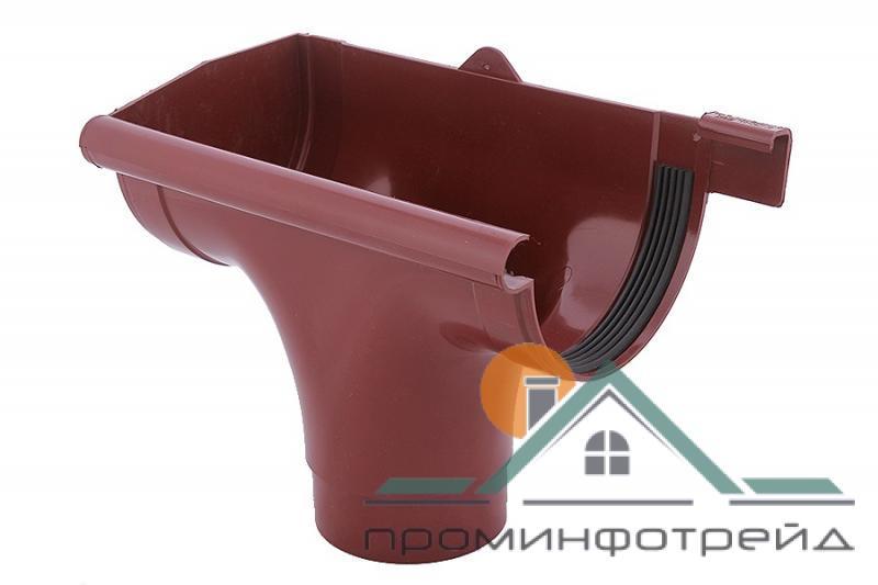 Фото Водосточные системы PROFiL – пластиковые водосточные системы - Ливнеприемник левый 90 красный