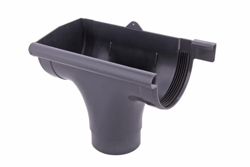 PROFiL – пластиковые водосточные системы - Ливнеприемник левый 90 графитовый