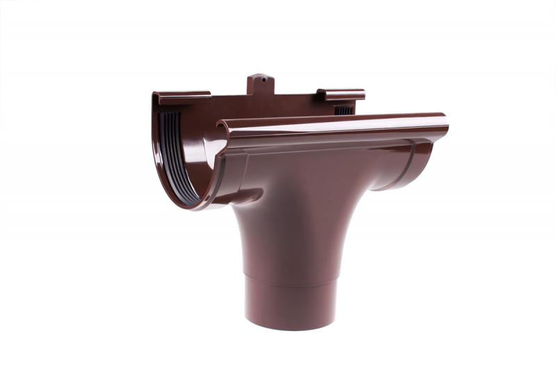 PROFiL – пластиковые водосточные системы - Ливнеприемник проходной 130 коричневый