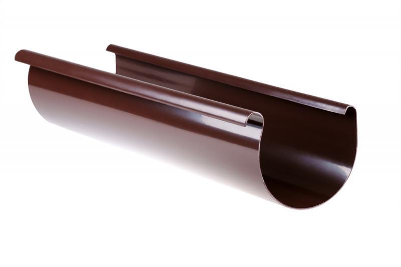 PROFiL – пластиковые водосточные системы - Желоб 90 коричневый 3 м
