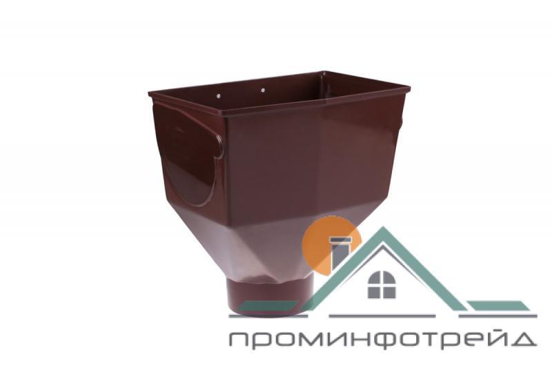 Фото Водосточные системы PROFiL – пластиковые водосточные системы - Горло желоба 130 коричневое