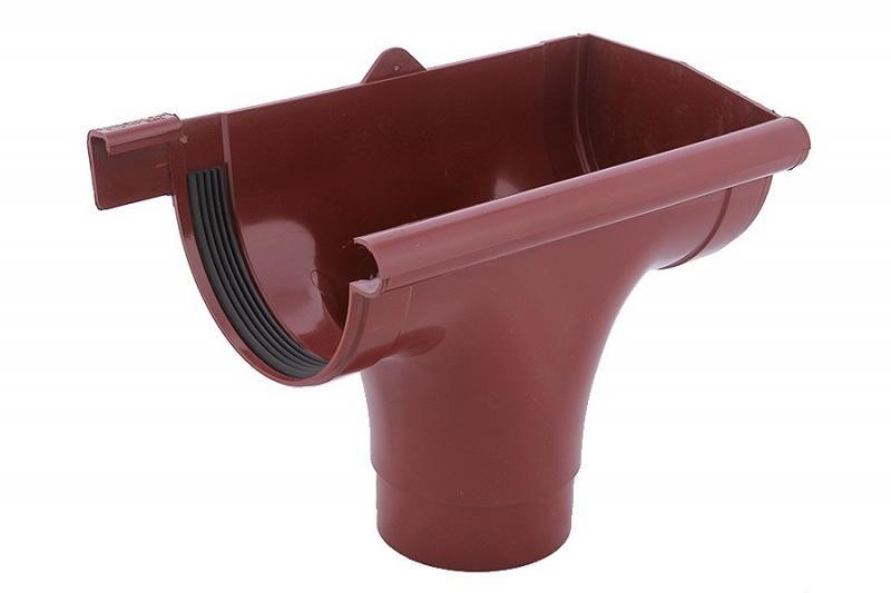 PROFiL – пластиковые водосточные системы - Ливнеприемник правый 130 красный