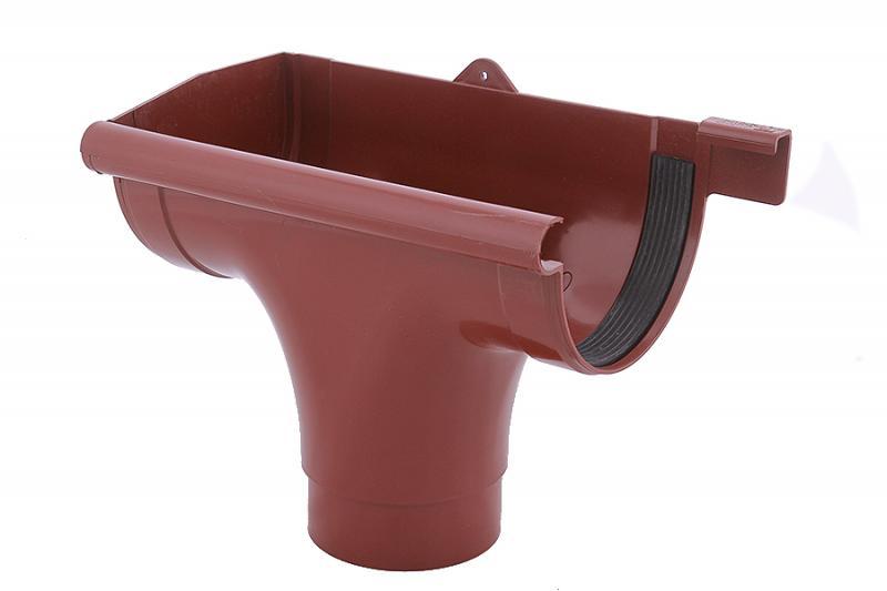 PROFiL – пластиковые водосточные системы - Ливнеприемник левый 130 кирпичный