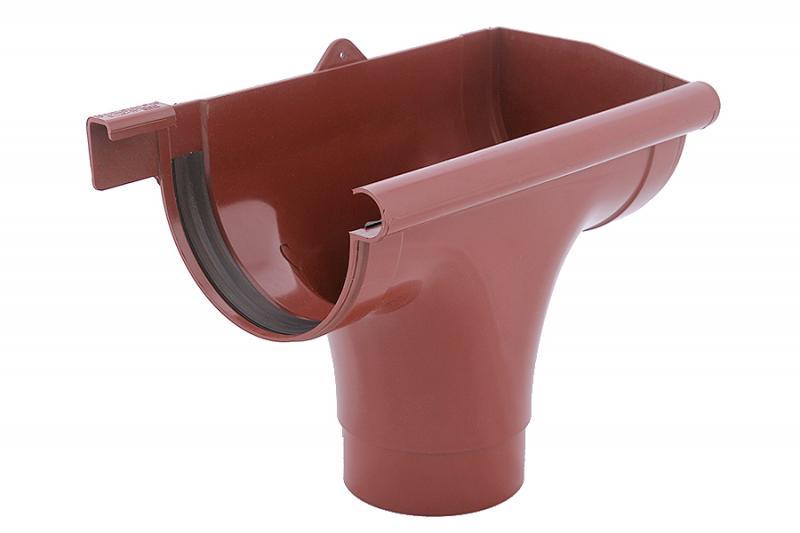 PROFiL – пластиковые водосточные системы - Ливнеприемник правый 130 кирпичный