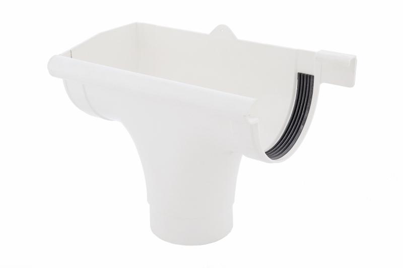 PROFiL – пластиковые водосточные системы - Ливнеприемник левый 130 белый