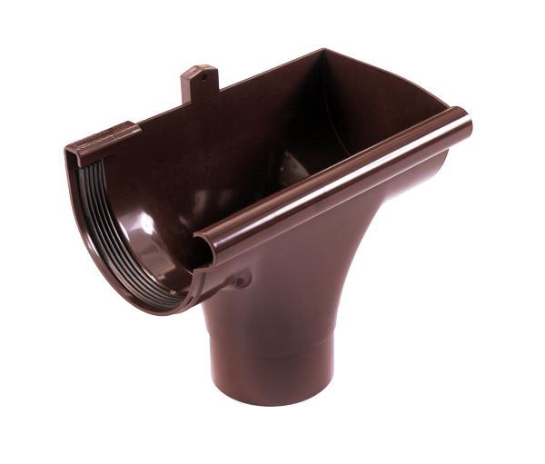 PROFiL – пластиковые водосточные системы - Ливнеприемник правый 130 коричневый