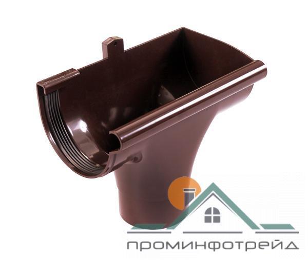 Фото Водосточные системы PROFiL – пластиковые водосточные системы - Ливнеприемник правый 130 коричневый