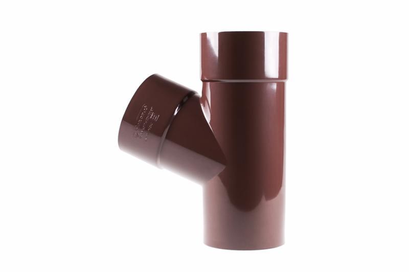 PROFiL – пластиковые водосточные системы - Тройник 100/75/67 90 коричневый