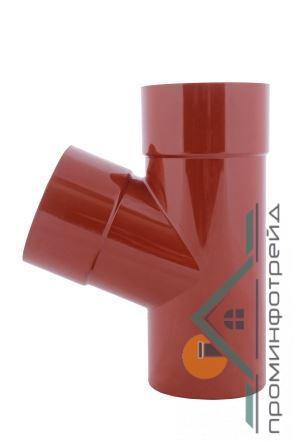 Фото Водосточные системы PROFiL – пластиковые водосточные системы - Тройник 100/75/67 90 красный