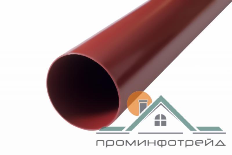 Фото Водосточные системы PROFiL – пластиковые водосточные системы - Труба 100 красная 3 м.