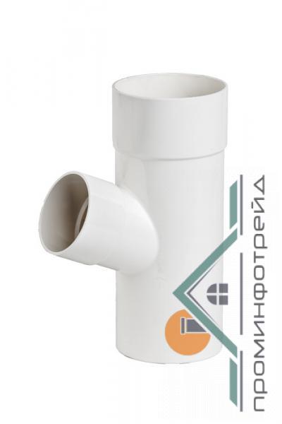 Фото Водосточные системы PROFiL – пластиковые водосточные системы - Тройник 100/100/67 130 белый