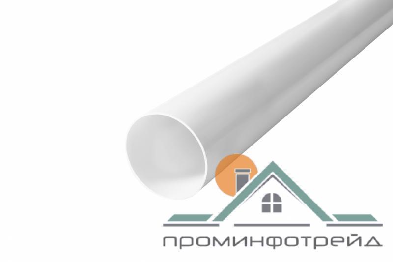 Фото Водосточные системы PROFiL – пластиковые водосточные системы - Труба 75 белая 4 м.