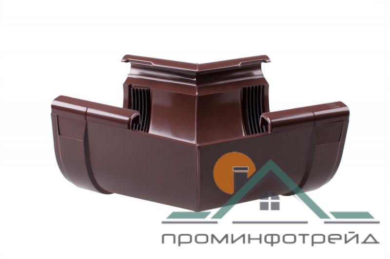 Фото Водосточные системы PROFiL – пластиковые водосточные системы - Угол внутренний 90 коричневый 135°