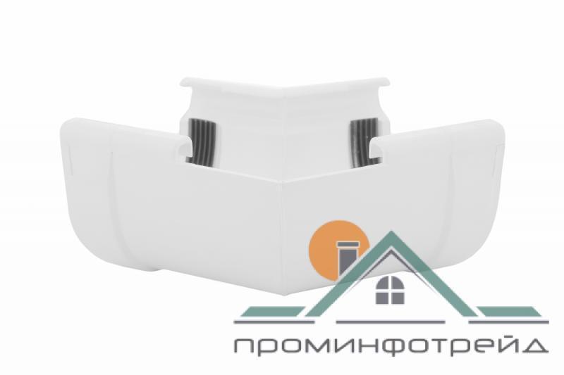 Фото Водосточные системы PROFiL – пластиковые водосточные системы - Угол внутренний 130 белый 135°