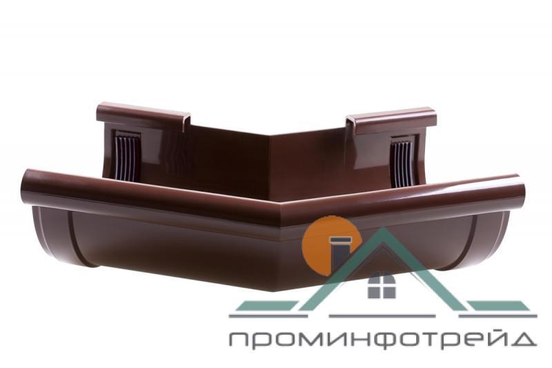 Фото Водосточные системы PROFiL – пластиковые водосточные системы - Угол внешний 130 коричневый 135°