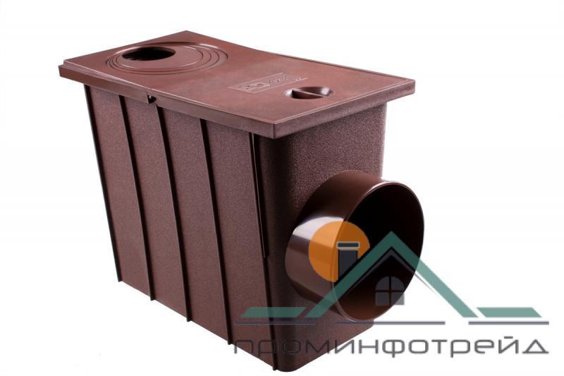Фото Водосточные системы PROFiL – пластиковые водосточные системы - Колодец сливной 75/100 боковой
