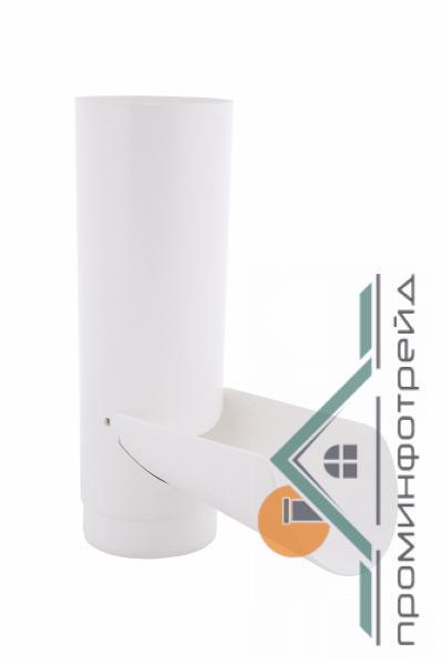 Фото Водосточные системы PROFiL – пластиковые водосточные системы - Отвод для сбора воды 90 белый