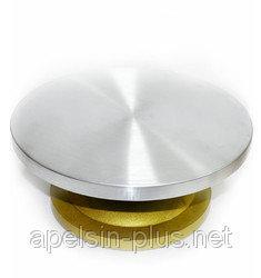 Столик поворотный кондитерский из усиленного пластика и металла 30 см 13 см