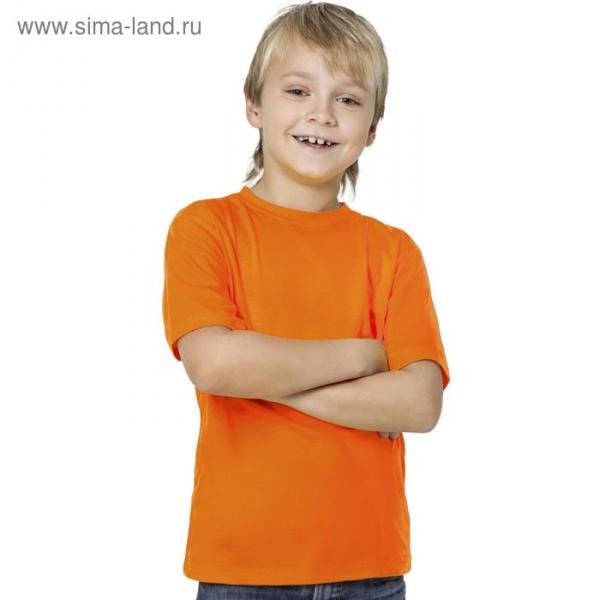 Футболка детская StanKids, рост 140 см, цвет оранжевый 150 г/м