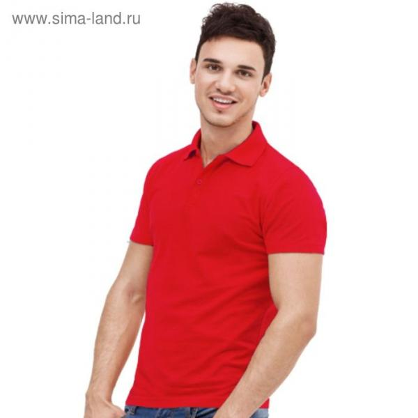 Рубашка-поло мужская StanUniform, размер 50, цвет красный 185 г/м