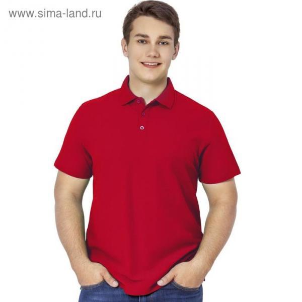 Рубашка-поло мужская StanPremier, размер 56, цвет красный 185 г/м