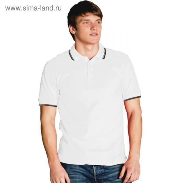 Рубашка-поло мужская StanTrophy, размер 46, цвет белый 185 г/м