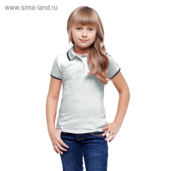 Рубашка-поло детская StanTrophy Junior, 10 лет, цвет белый 185 г/м