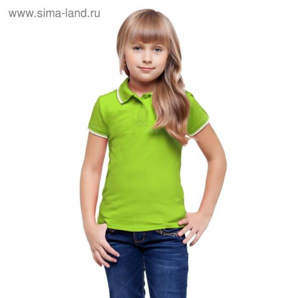 Рубашка-поло детская StanTrophy Junior, 8 лет, цвет ярко-зелёный 185 г/м