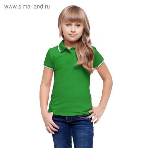 Рубашка-поло детская StanTrophy Junior, 8 лет, цвет зелёный 185 г/м