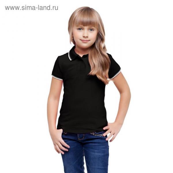 Рубашка-поло детская StanTrophy Junior, 10 лет, цвет чёрный 185 г/м