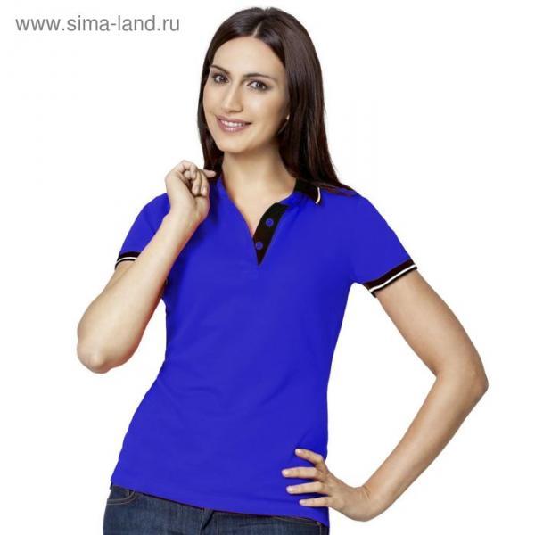 Рубашка-поло женская StanContrast, размер 44, цвет синий 185 г/м