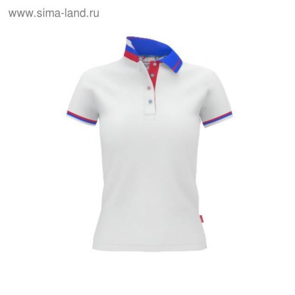 Рубашка-поло женская PiterBest, размер 48, цвет белый 200 г/м