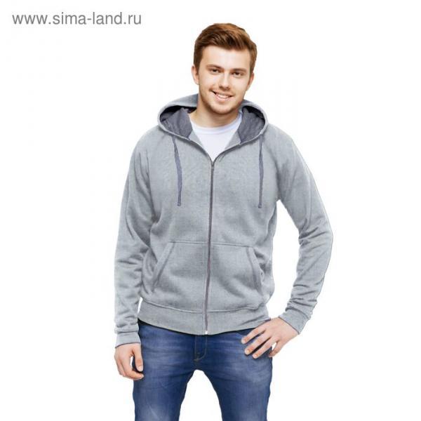 Толстовка мужская StanCool, размер 48, цвет серый меланж 260 г/м