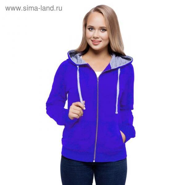 Толстовка женская StanCool, размер 48, цвет синий 260 г/м