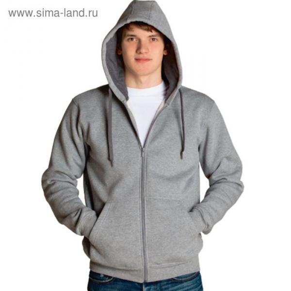 Толстовка мужская StanStyle, размер 48, цвет серый меланж-тёмный меланж 280 г/м