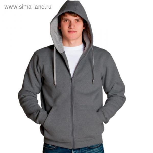 Толстовка мужская StanStyle, размер 52, цвет тёмный меланж-серый меланж 280 г/м