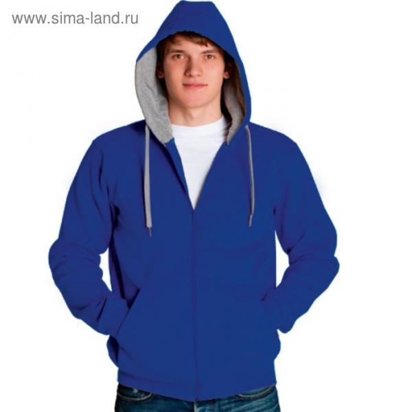 Толстовка мужская StanStyle, размер 44, цвет синий-серый меланж 280 г/м