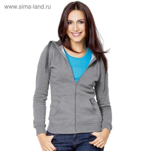 Толстовка женская StanStyle, размер 46, цвет серый меланж-тёмный меланж 280 г/м