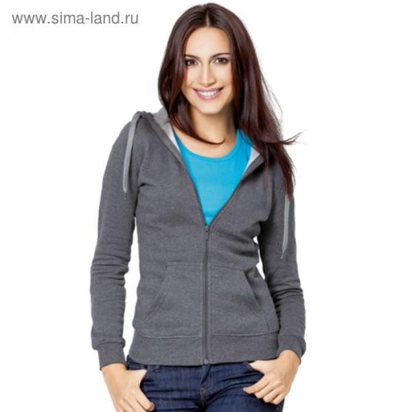 Толстовка женская StanStyle, размер 42, цвет тёмный меланж-серый меланж 280 г/м